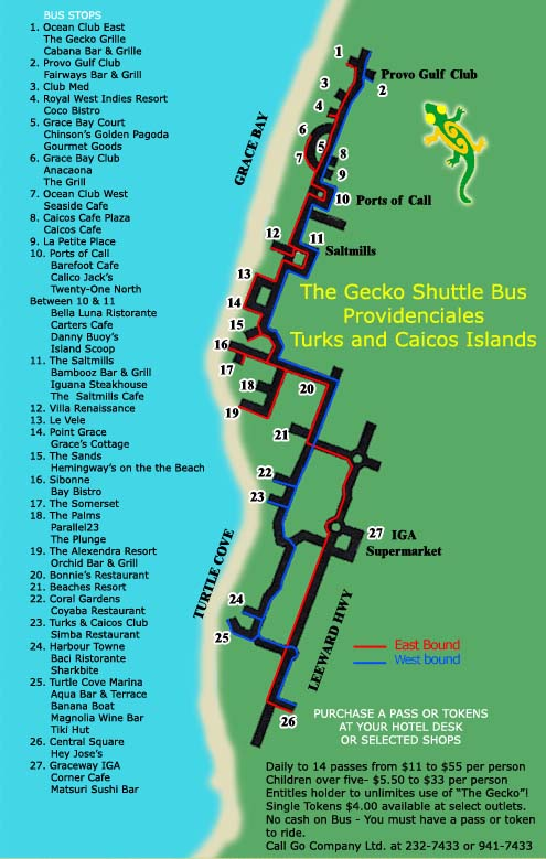 Turks and Caicos Shuttle Bus